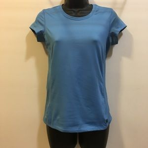 Alo cap sleeve workout top with mesh back Small